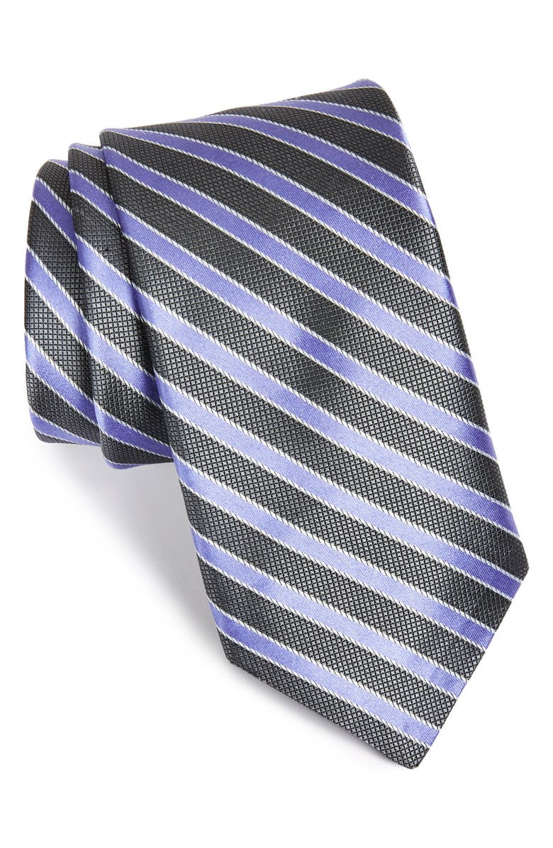 MICHAEL KORS 'Milford Stripe' Woven Silk Tie, Main, color, 015