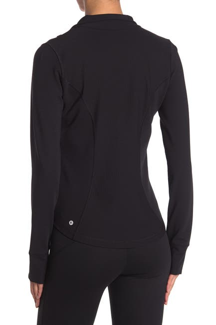 Image of 90 Degree By Reflex Interlink Thumbhole Zip Front Jacket