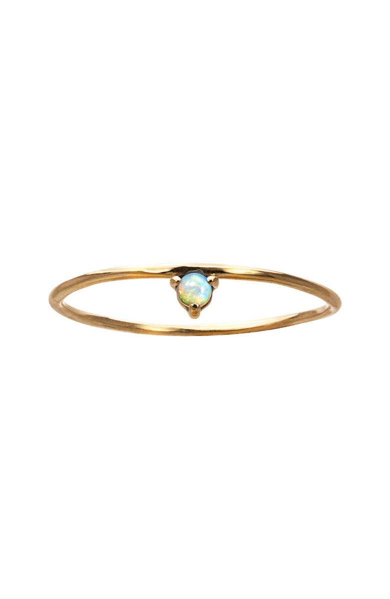 WWAKE Counting Collection One-Step Opal Ring, Main, color, YELLOW GOLD