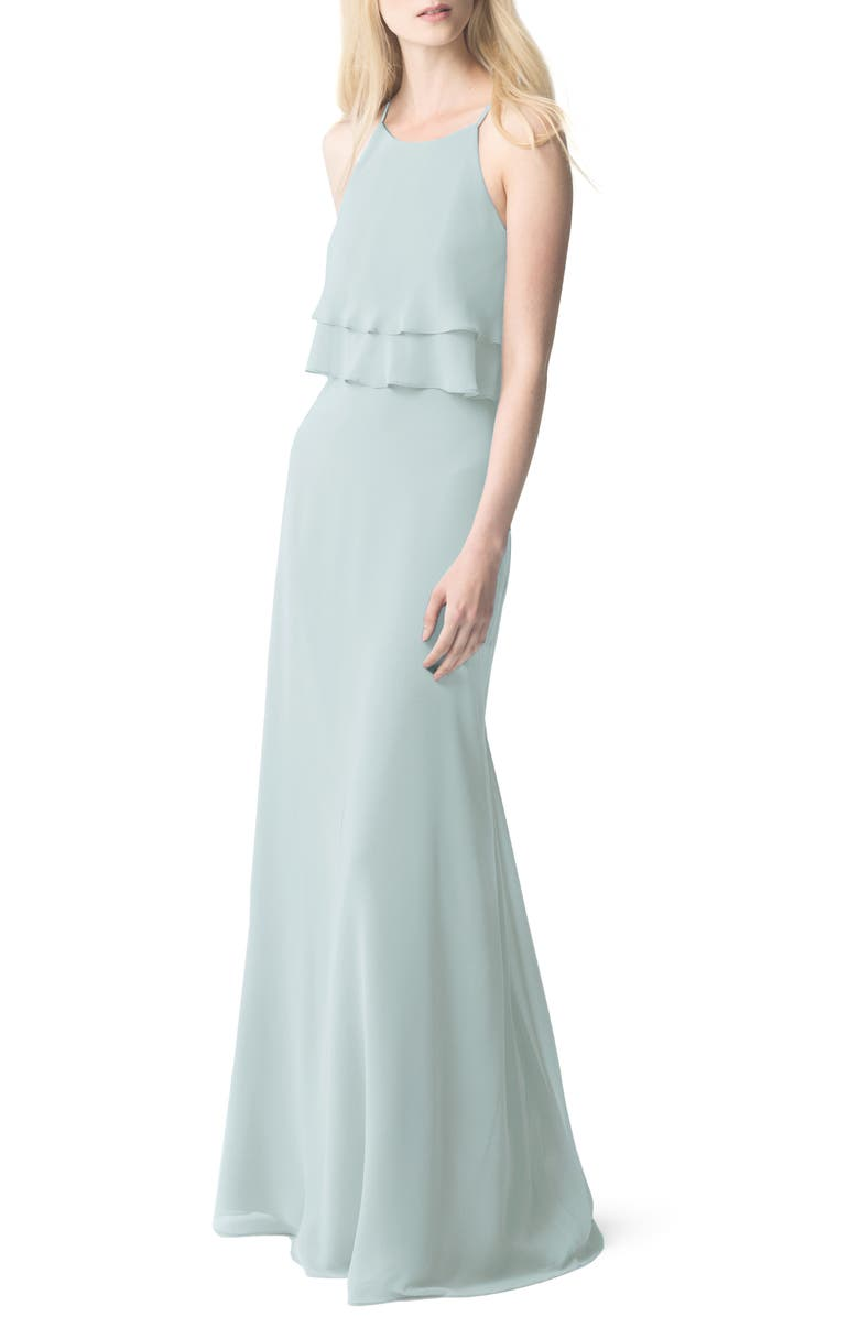 0ab8367ef22e1 Charlie Ruffle Chiffon Gown, Main, color, MORNING MIST