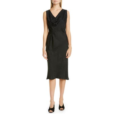 Zero + Maria Cornejo Lana Cheetah Jacquard Dress, Black