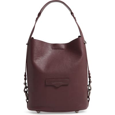 Rebecca Minkoff Utility Convertible Leather Bucket Bag - Burgundy