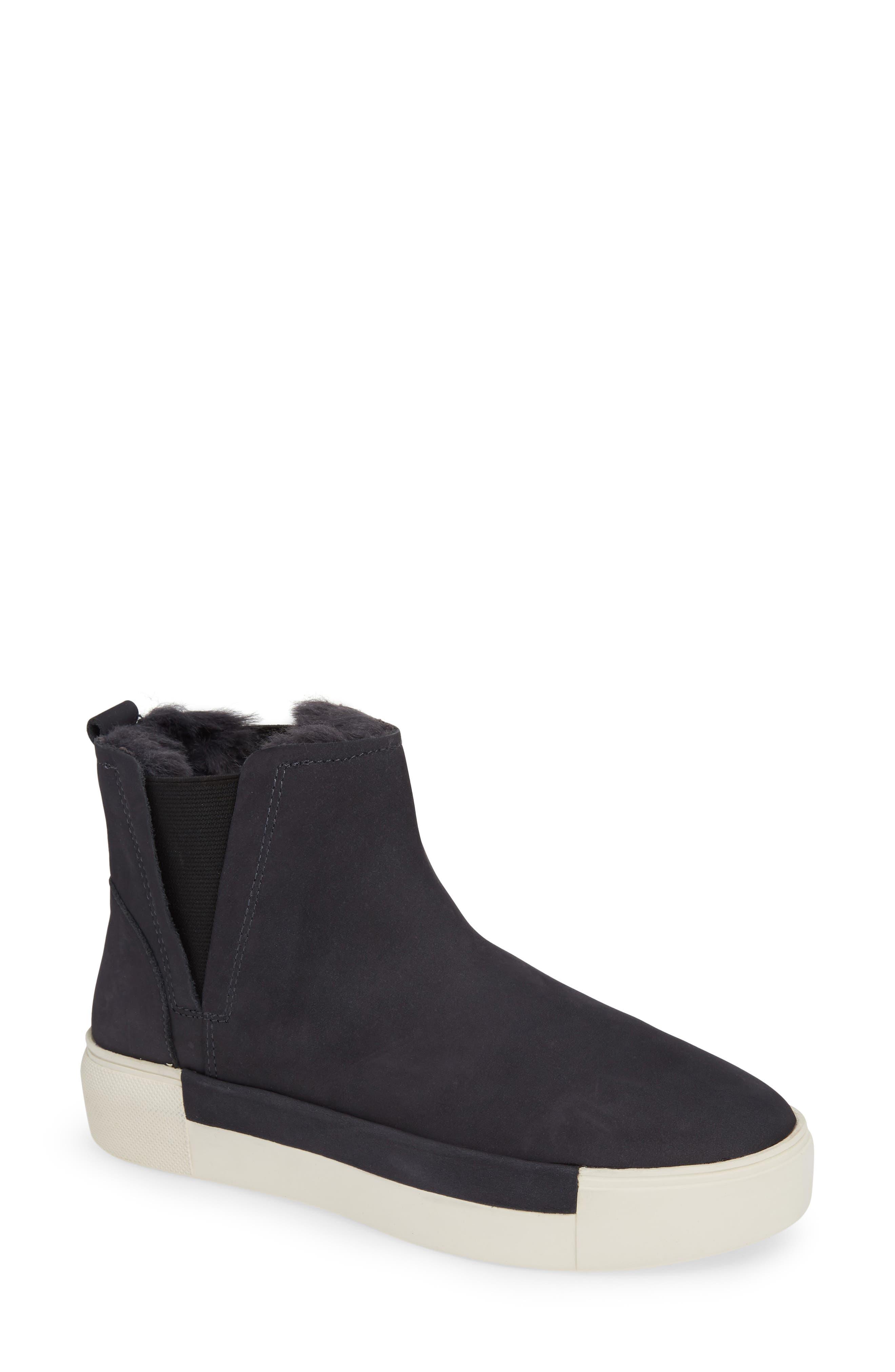 Jslides Val Faux Fur Lined Platform Sneaker, Blue