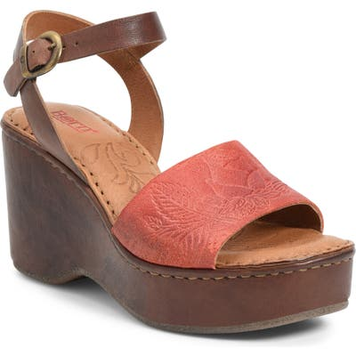 B?rn Moapa Wedge Sandal, Red