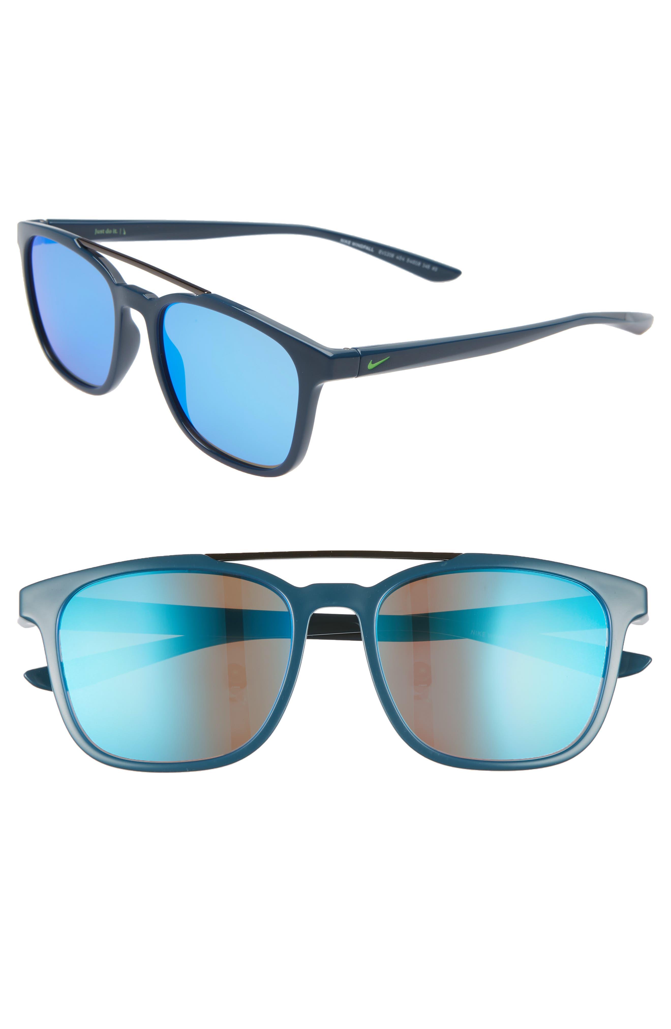 Nike Windfall 5m Square Sunglasses - Space Blue/ Blue