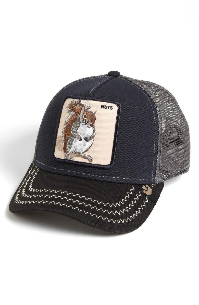GOORIN BROS. Animal Farm - Squirrel Master Snapback Trucker Hat, Main, color, 410