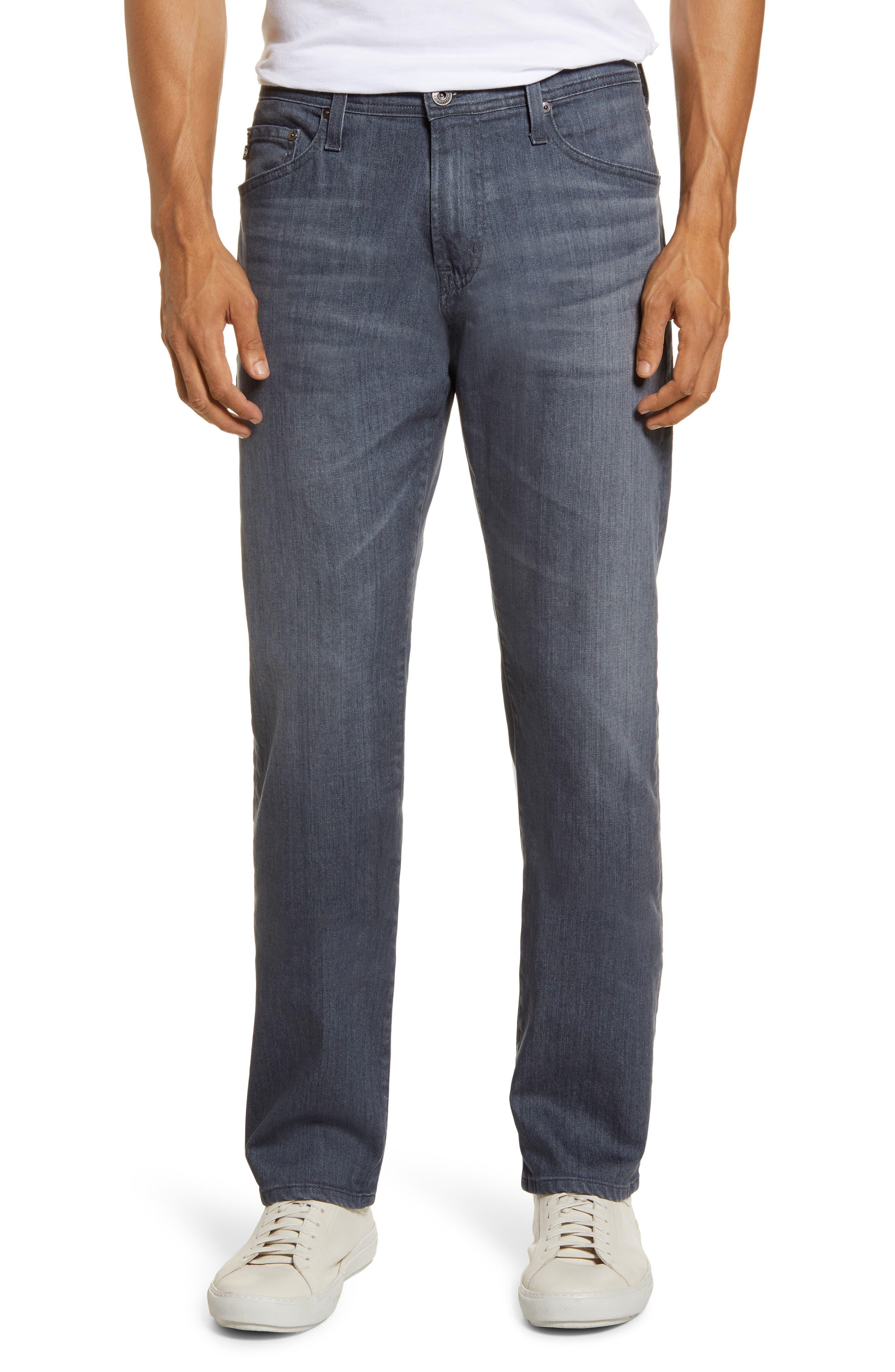 Men's Ag Everett Slim Straight Leg Jeans,  30 x 34 - Grey