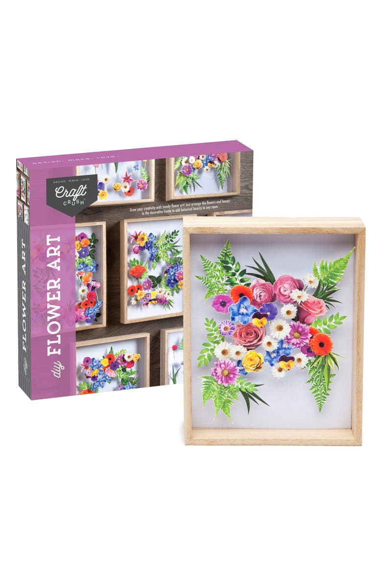 CRAFT CRUSH Do Your Own Flower Art Kit, Main, color, 650