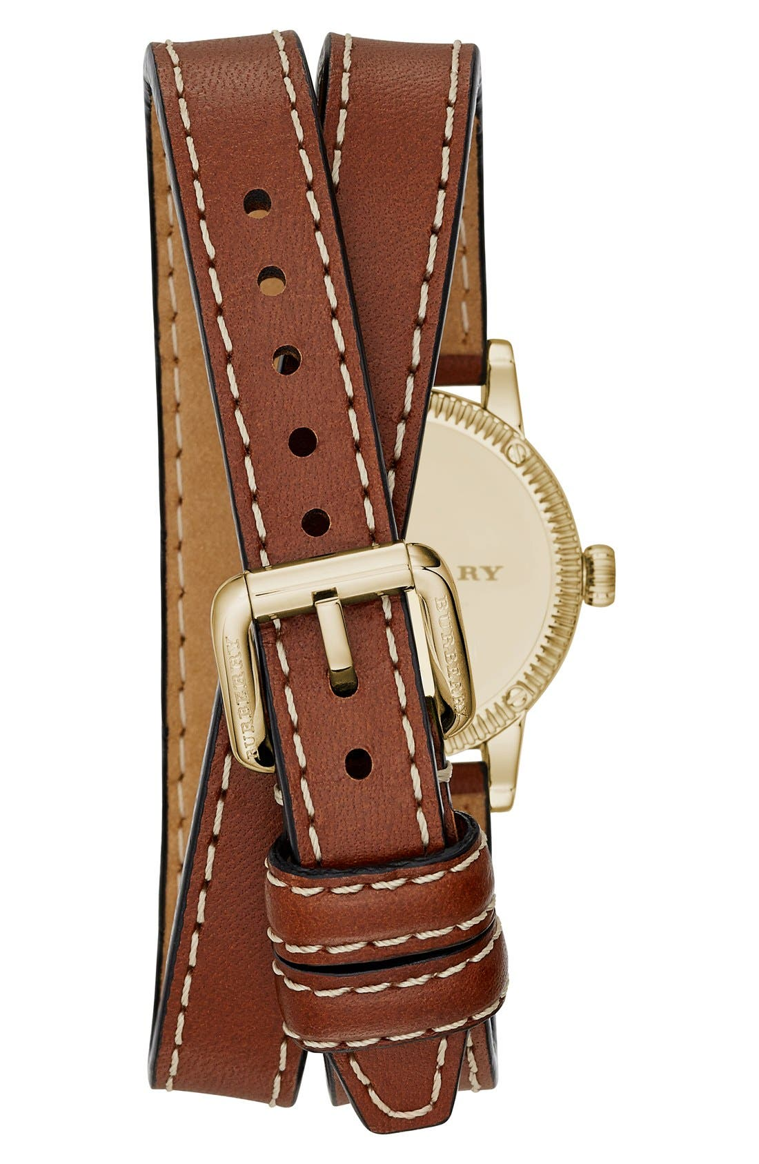 ,                             'Utilitarian' Round Leather Wrap Watch, 30mm,                             Alternate thumbnail 16, color,                             200