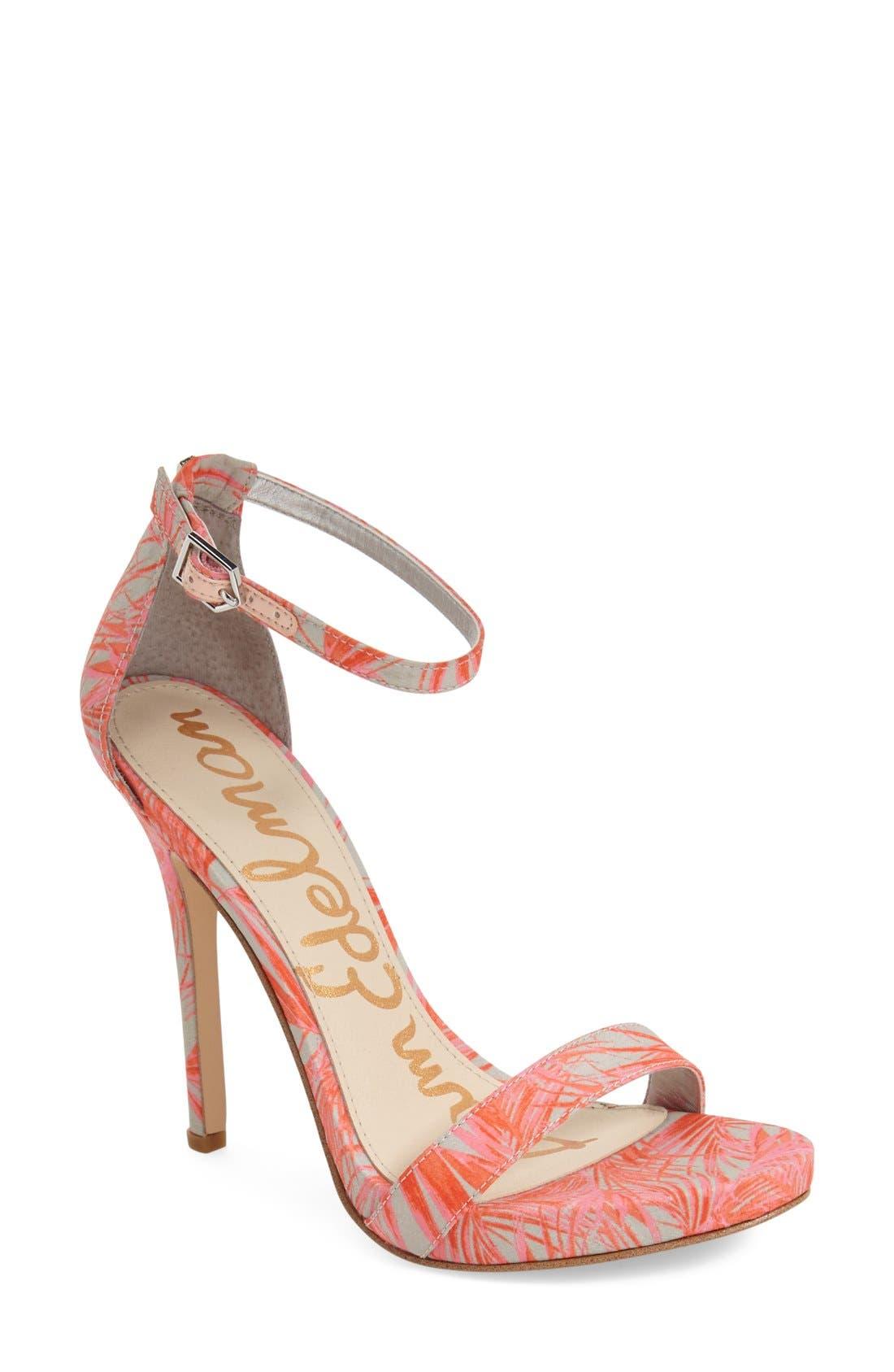 ,                             'Eleanor' Ankle Strap Sandal,                             Main thumbnail 55, color,                             022