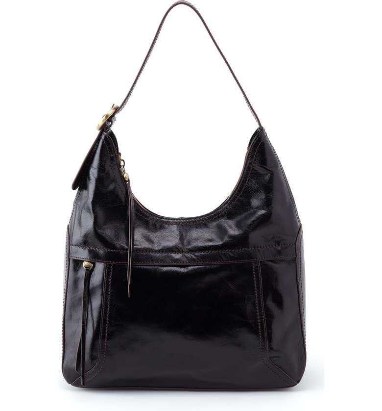HOBO Fortune Leather Shoulder Bag, Main, color, 001