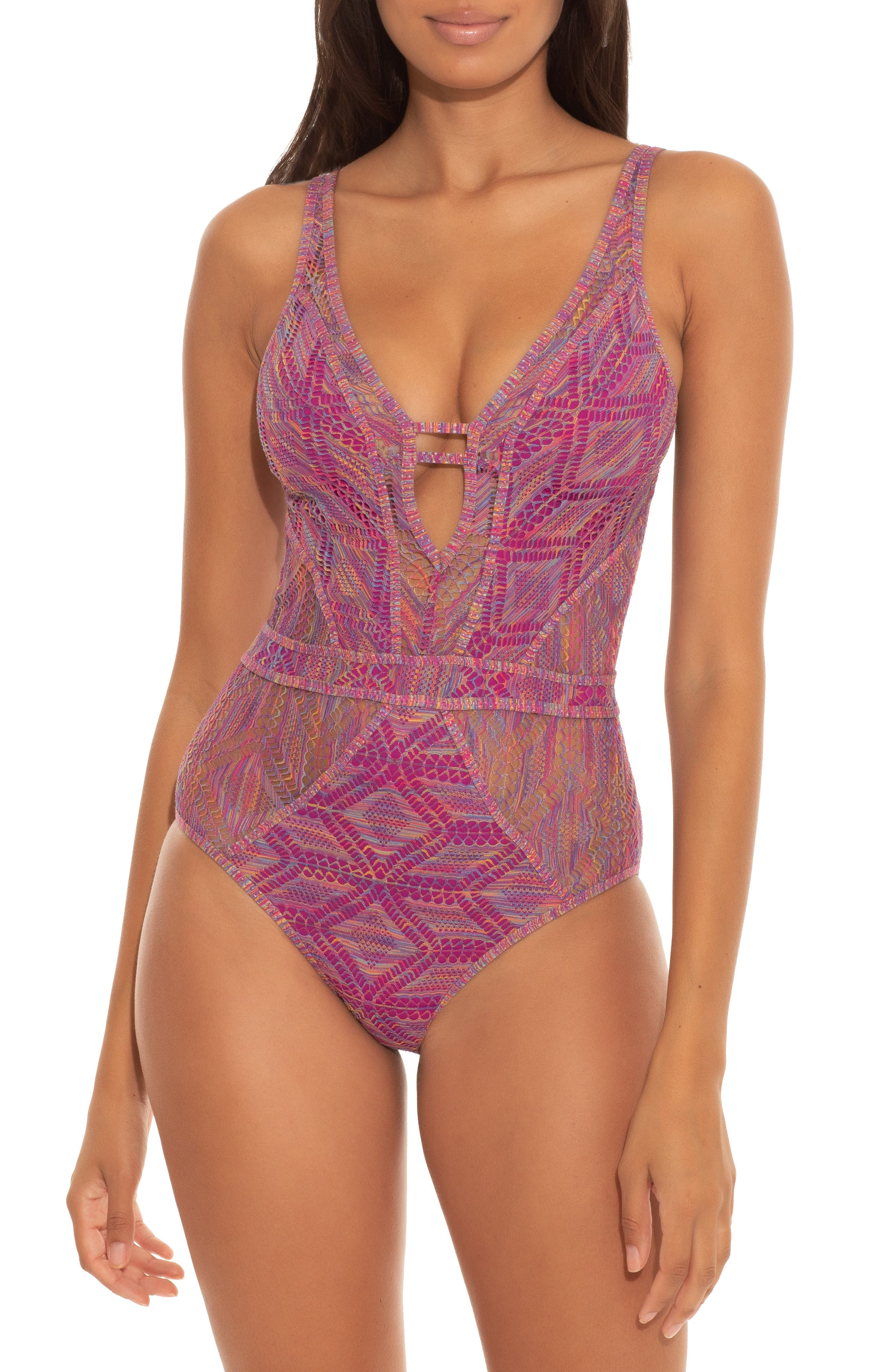 Mosaic Show & Tell One-Piece Swimsuit