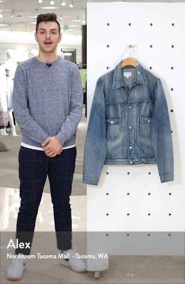L'Homme Distressed Denim Jacket, sales video thumbnail