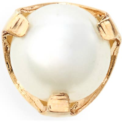 Zoe Chicco Tiny Pearl Stud Earring