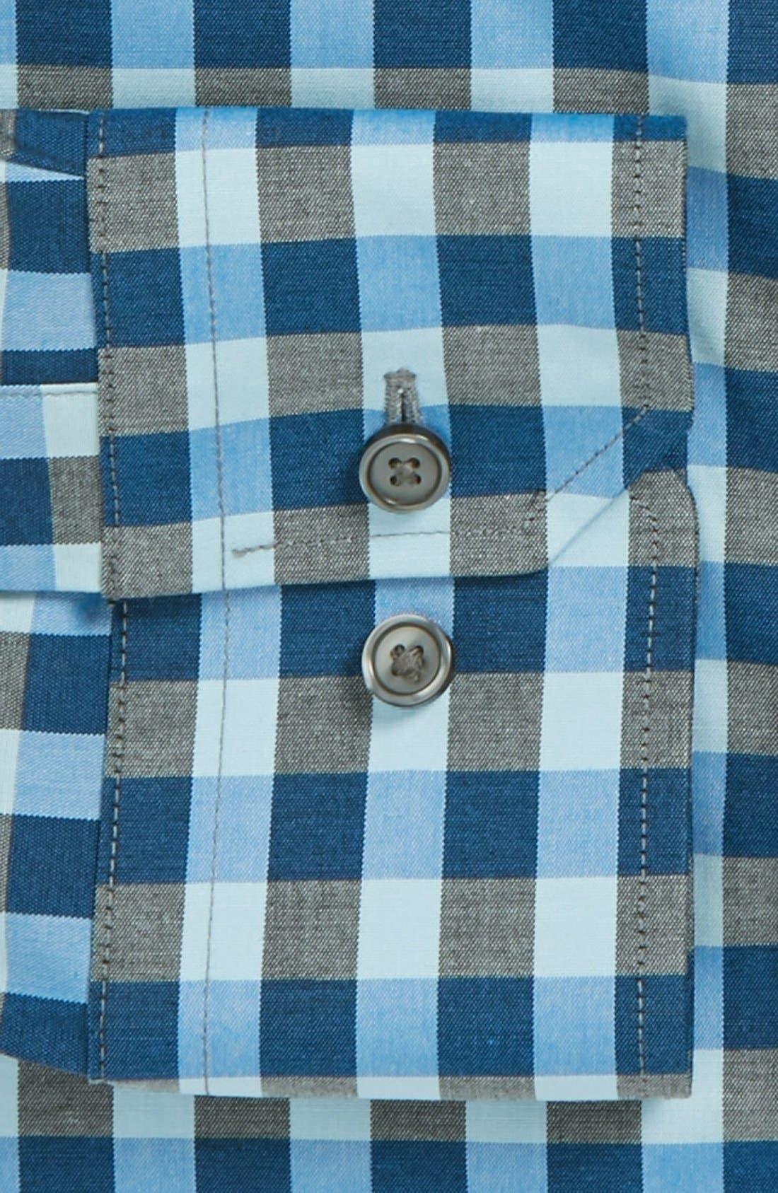 ,                             Slim Fit Non Iron Gingham Dress Shirt,                             Alternate thumbnail 20, color,                             461