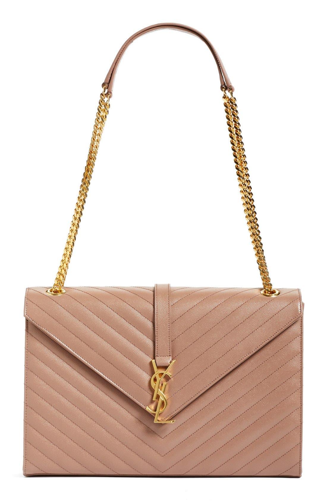 ,                             'Large Monogram' Grained Leather Shoulder Bag,                             Main thumbnail 36, color,                             650