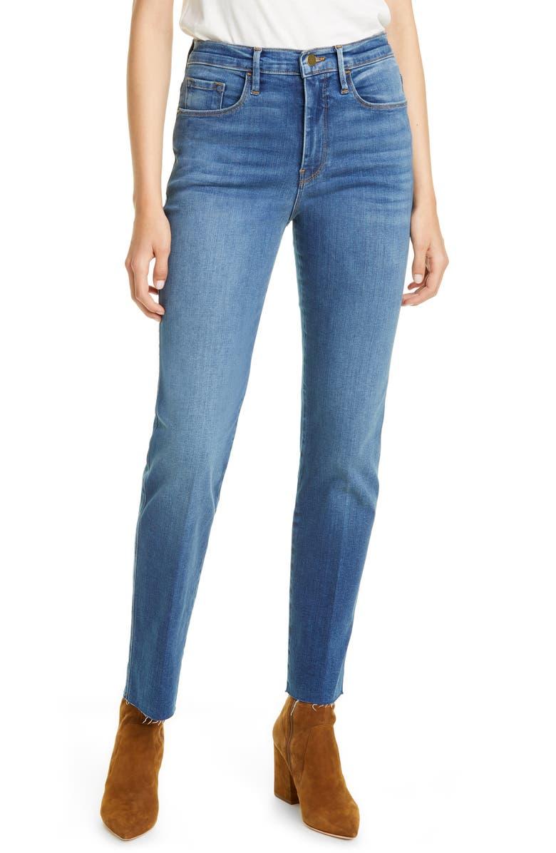 FRAME Le Sylvie Slender Straight Leg Jeans, Main, color, POE AVENUE