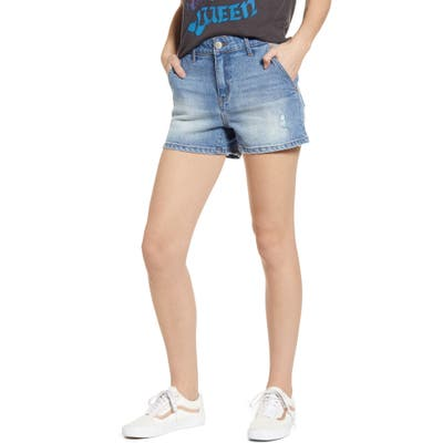Prosperity Denim Trouser Pocket Denim Shorts, Blue