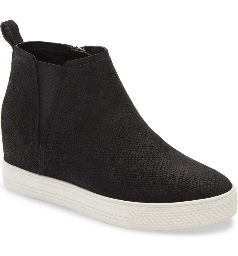 CASLON<SUP>®</SUP> Aidy Water Resistant Wedge Sneaker, Main, color, BLACK PYTHON