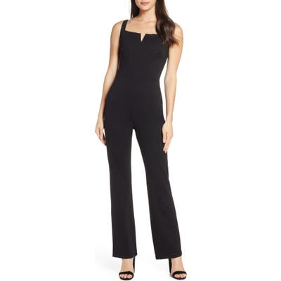 Fraiche By J Sleeveless Jumpsuit, Black