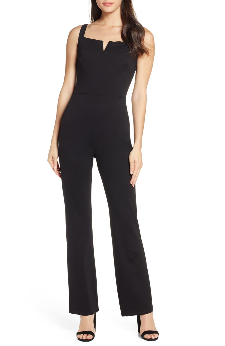 FRAICHE BY J Sleeveless Jumpsuit, Main, color, BLACK