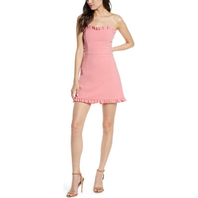 French Connection Whisper Convertible Strap Dress, Pink