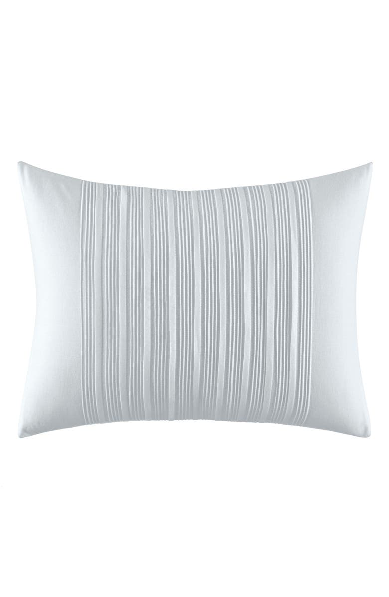 VERA WANG Linear Tucks Tiny Pleats Accent Pillow, Main, color, WHITE