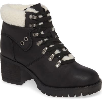 Mia Baldwin Faux Fur Trim Hiker Boot, Black