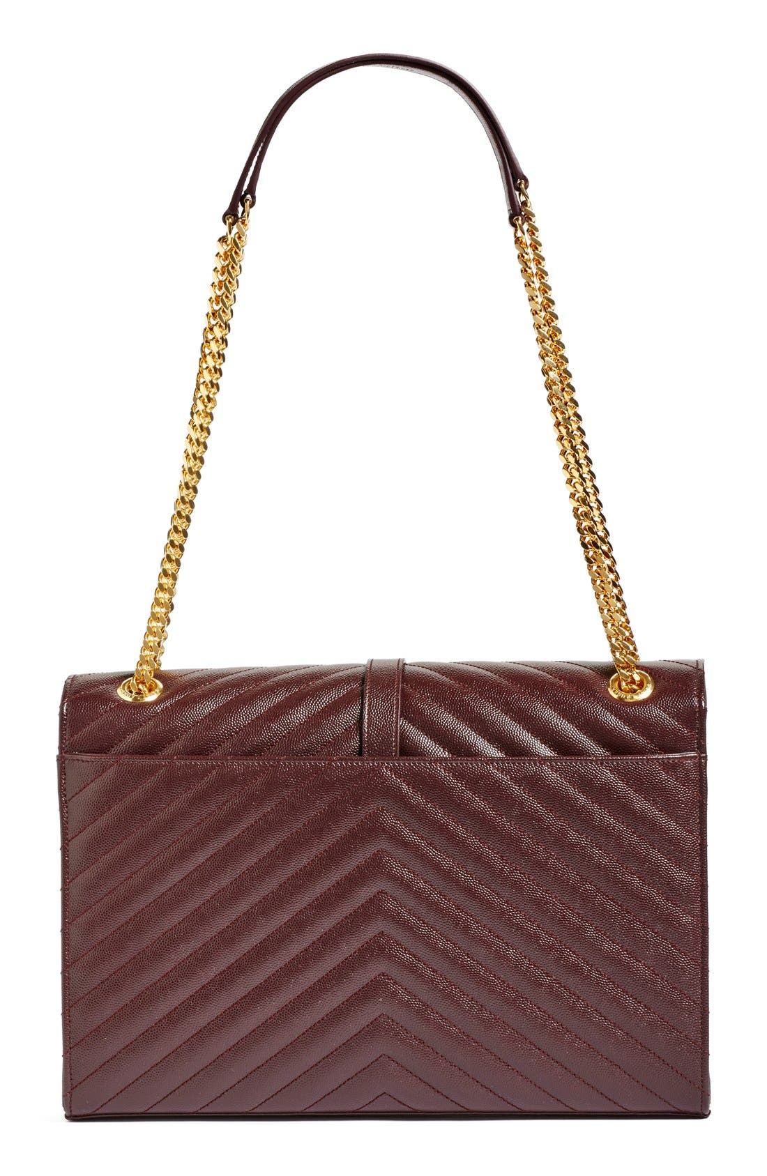 ,                             'Large Monogram' Grained Leather Shoulder Bag,                             Alternate thumbnail 32, color,                             606