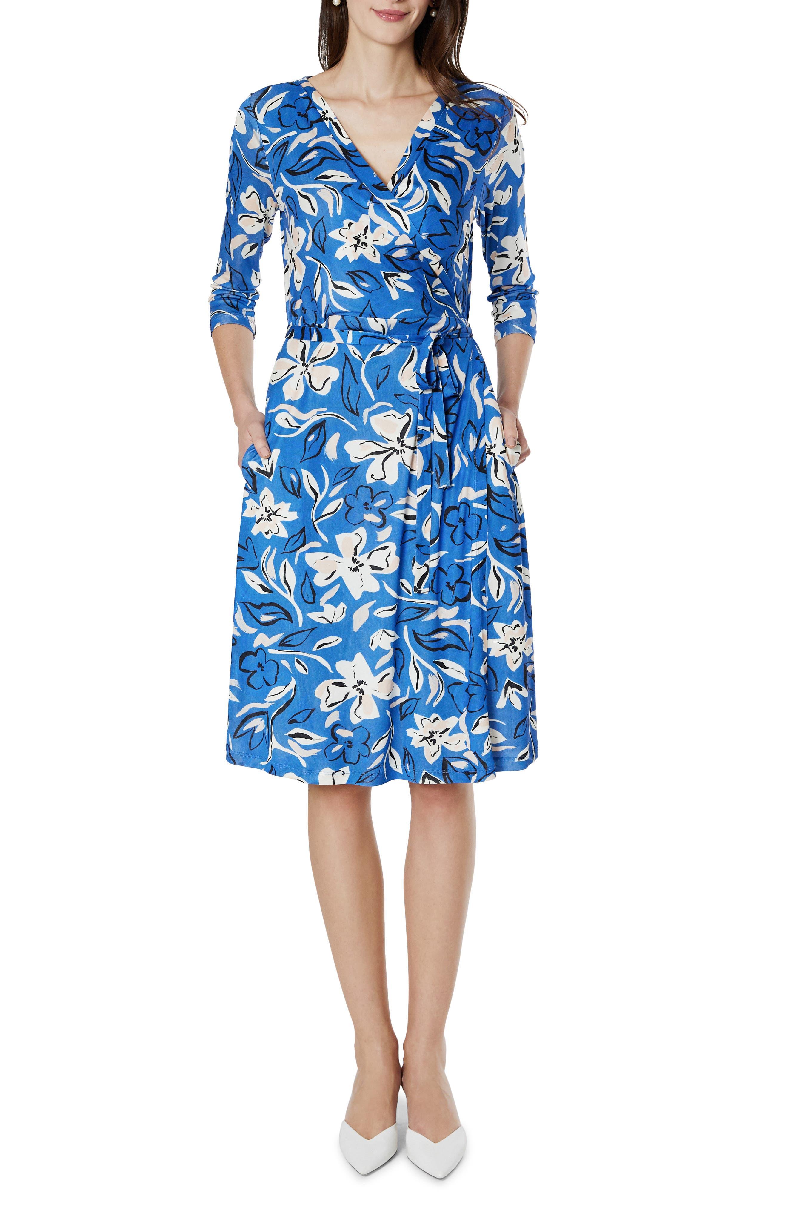 Emilia Silk Maternity/nursing Faux Wrap Dress