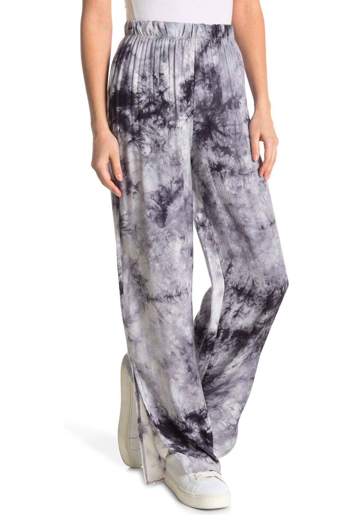 Image of Know One Cares Tie Dye Wide Leg Pants