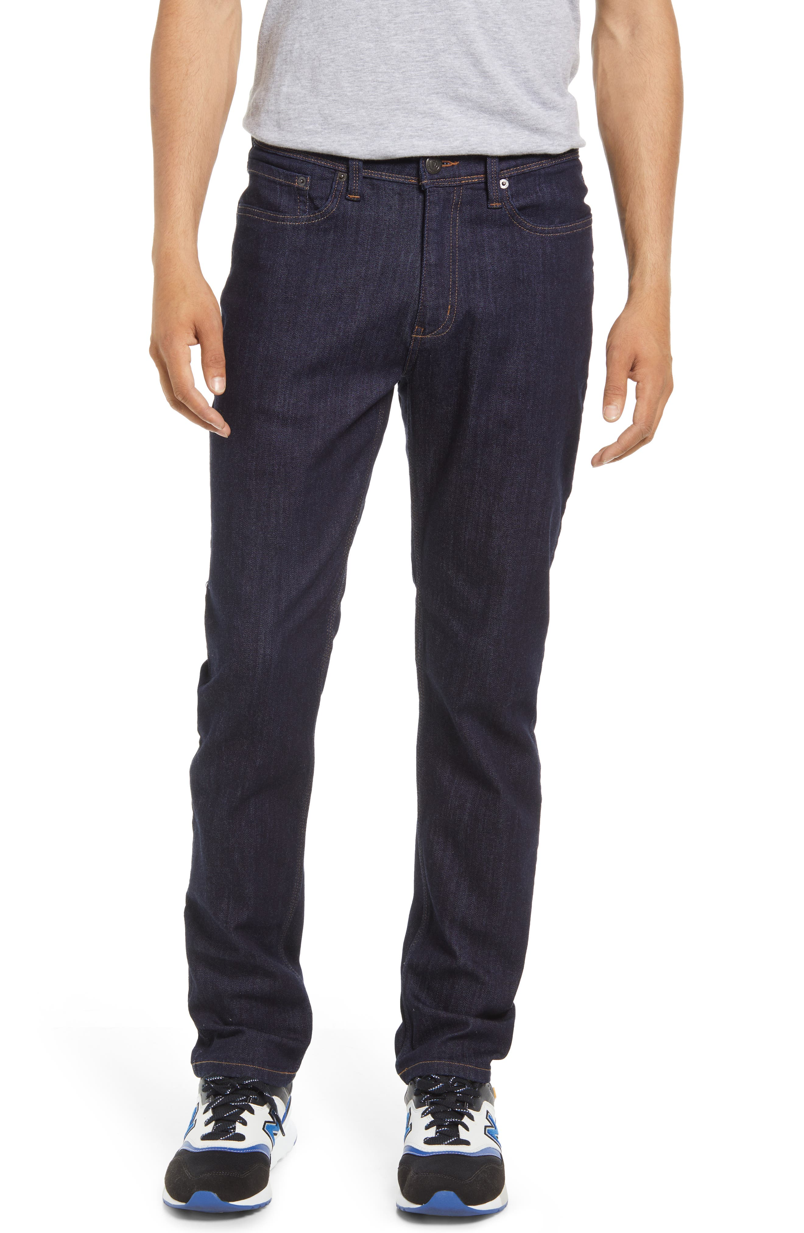 Stay Dry Slim Water Repellent Organic Cotton Blend Straight Leg Jeans