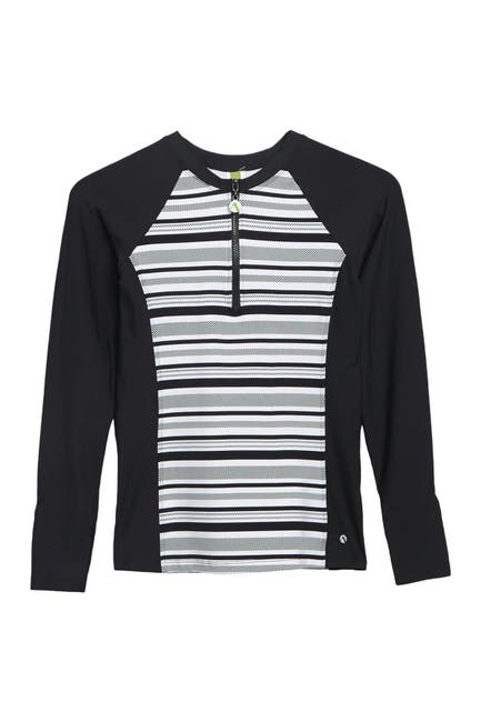 Image of NEXT Limitless Stripe Colorblock Zip Rash Guard