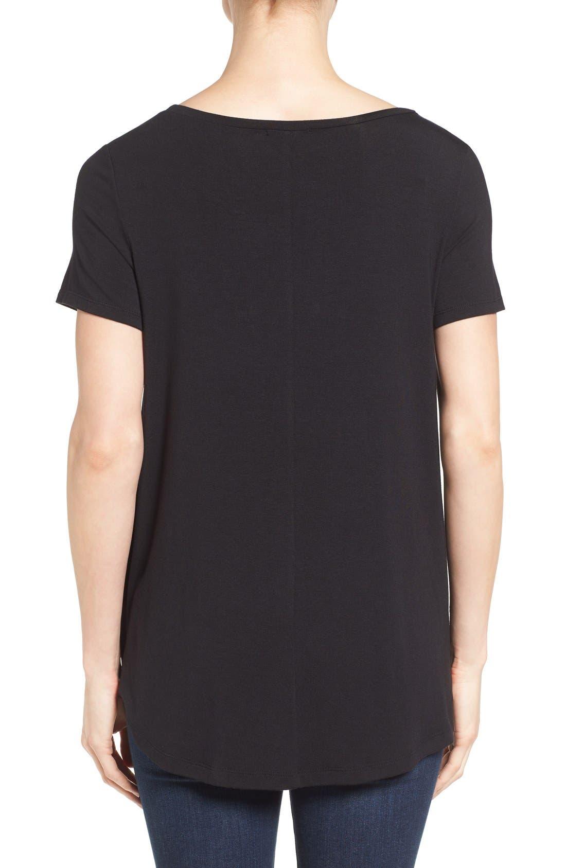 ,                             Short Sleeve Shirttail Tee,                             Alternate thumbnail 10, color,                             BLACK