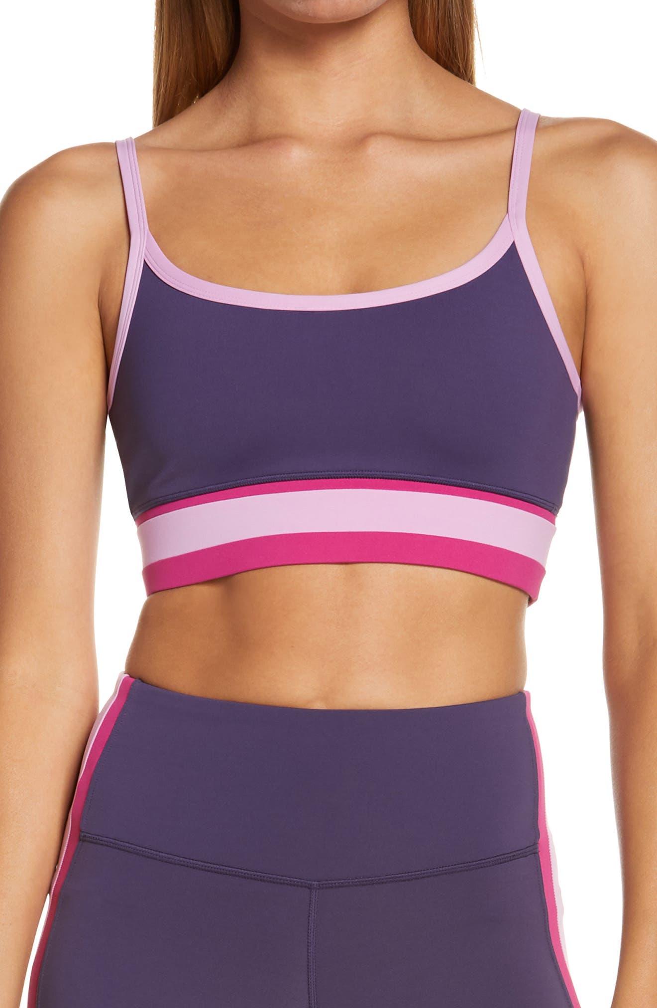 Engineered Stripe Sports Bra