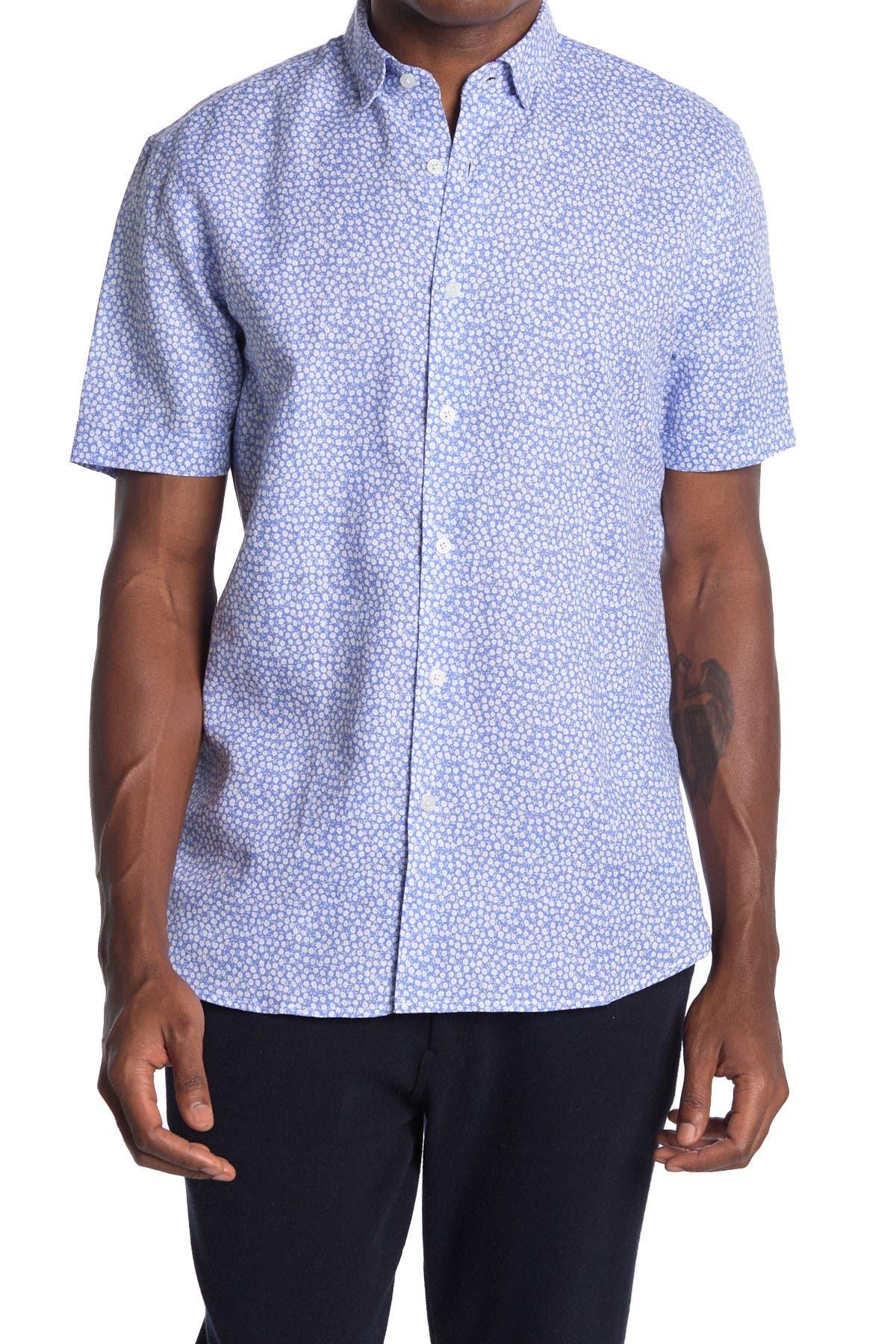Image of Toscano Short Sleeve Linen Blend Shirt