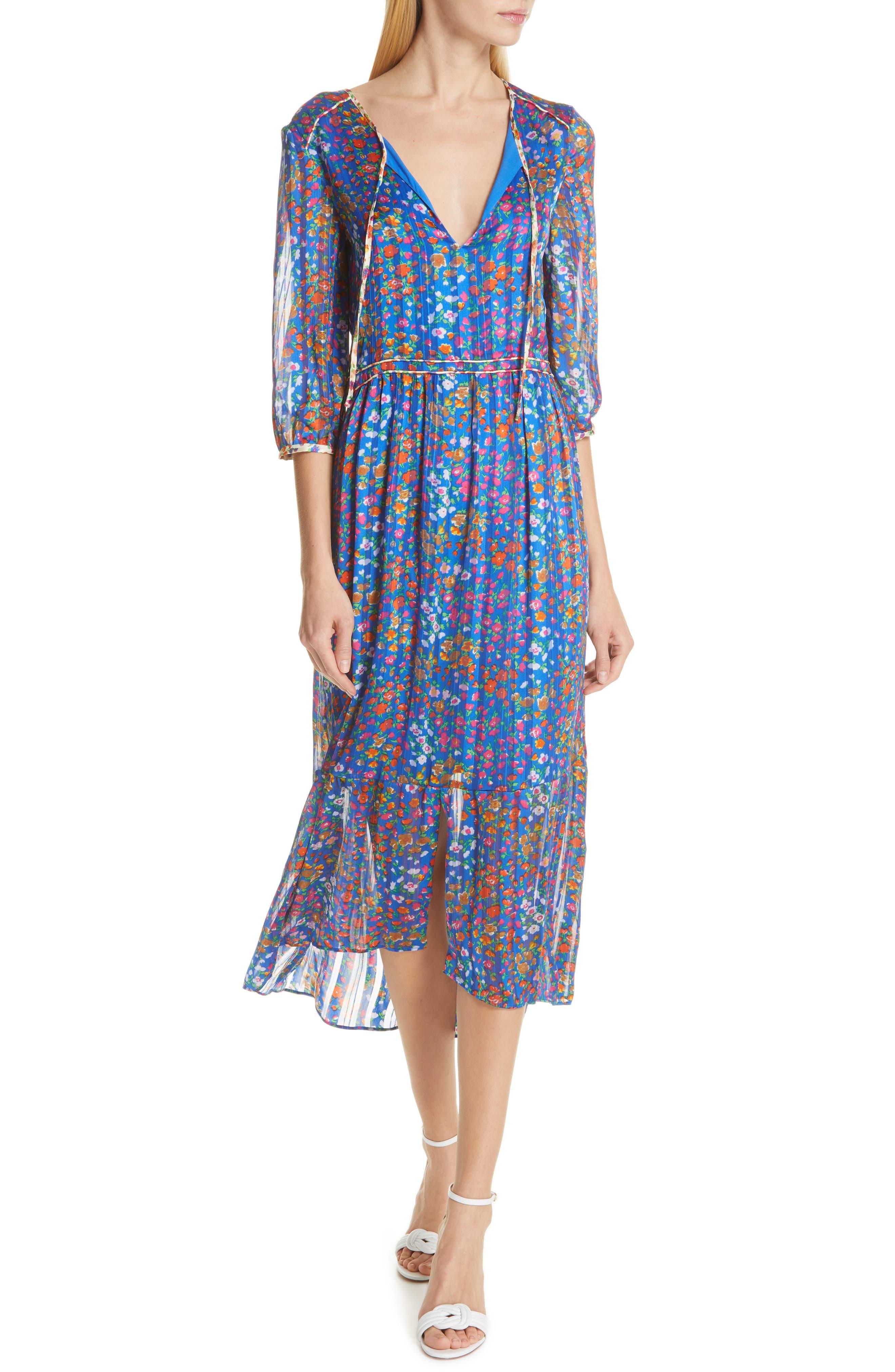 Ba & sh Reese Midi Dress, Blue