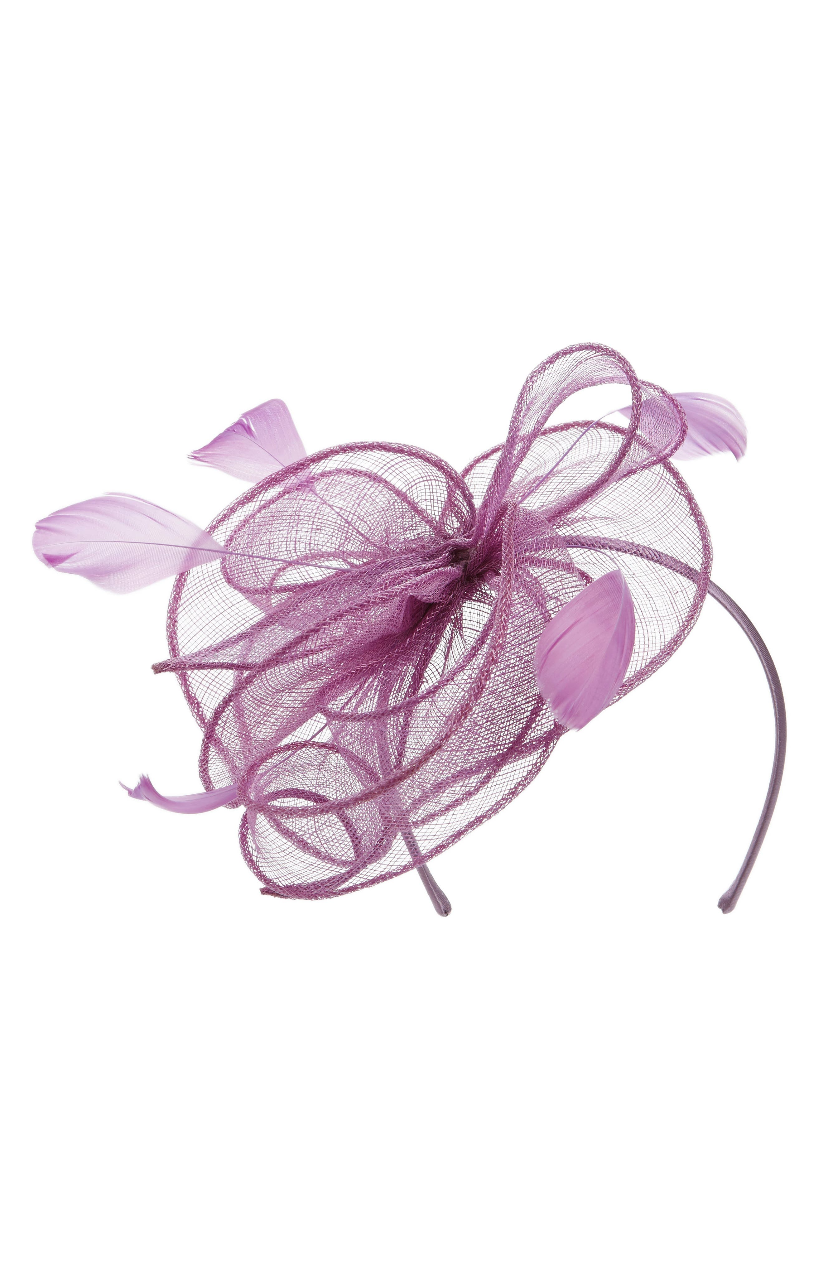 Bow Fascinator Headband, Main, color, 530