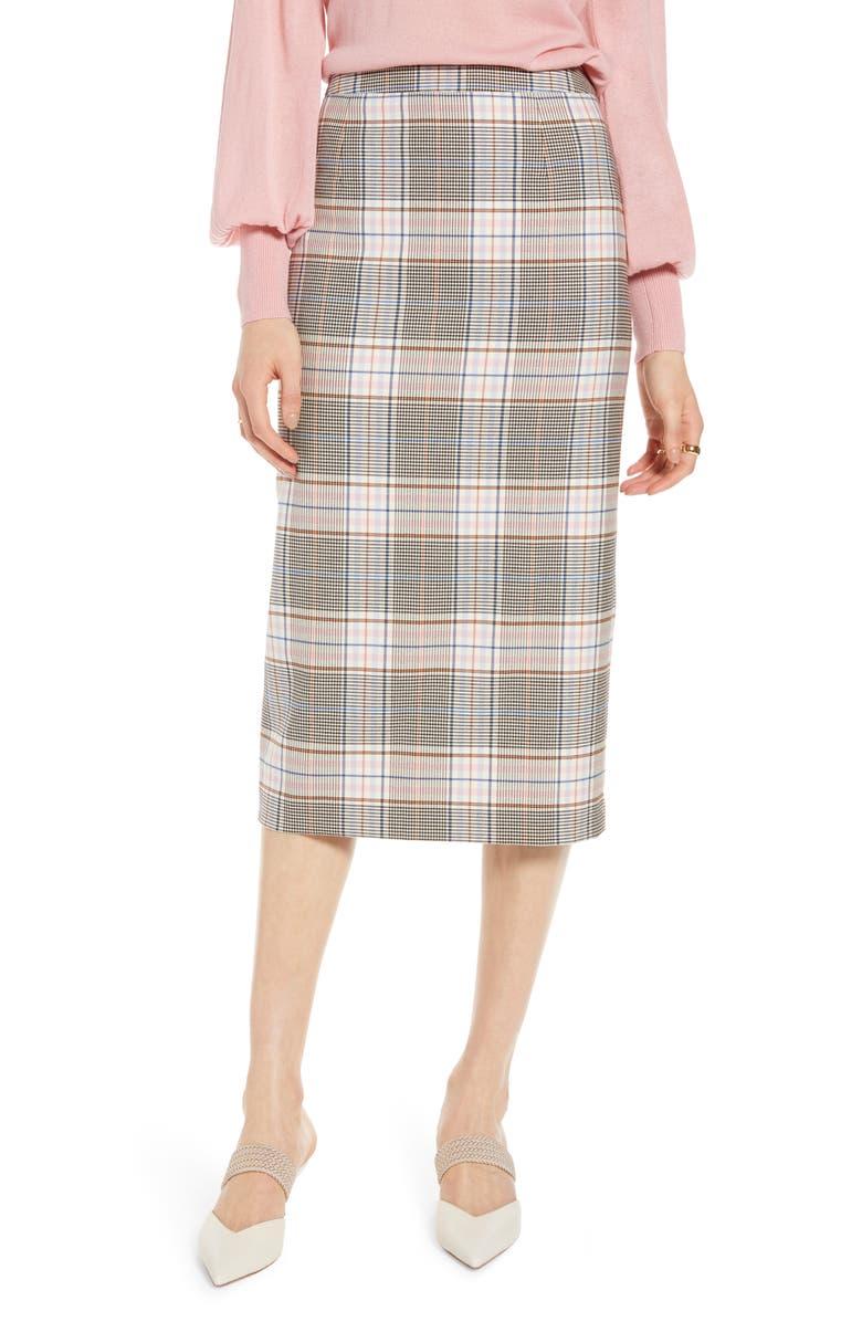 HALOGEN<SUP>®</SUP> Midi Pencil Skirt, Main, color, 001