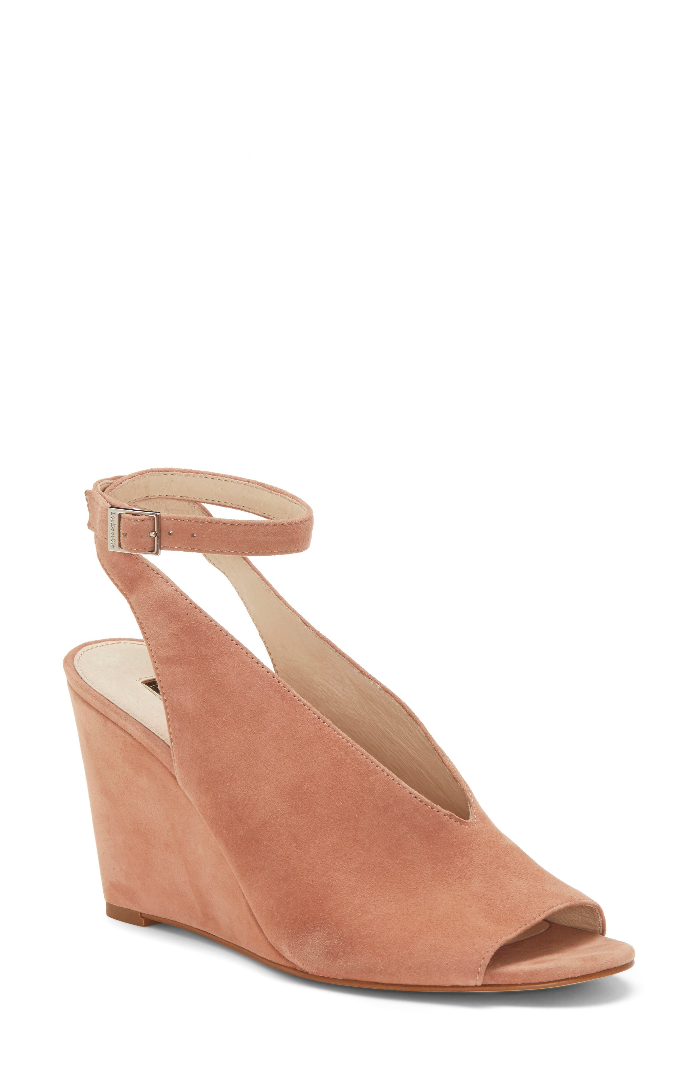 Louise Et Cie Ankle Strap Wedge Sandal- Beige