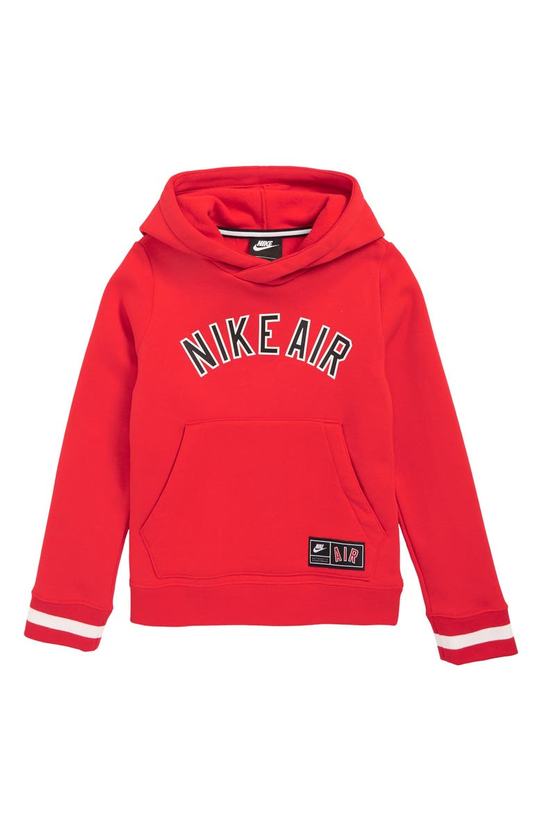 NIKE Air Logo Hoodie, Main, color, UNIVERSITY RED
