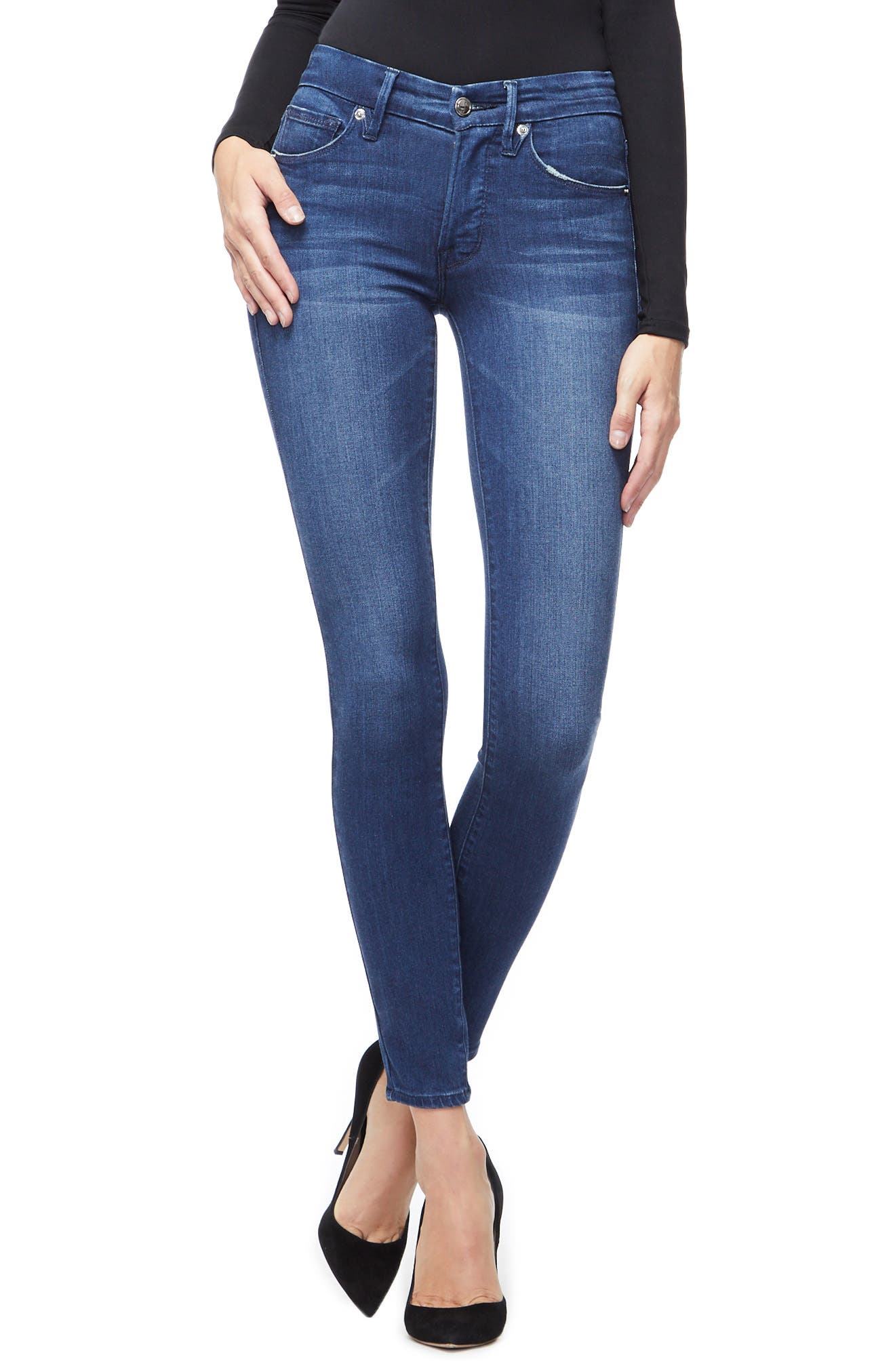 ,                             Good Legs High Waist Skinny Jeans,                             Main thumbnail 1, color,                             BLUE211