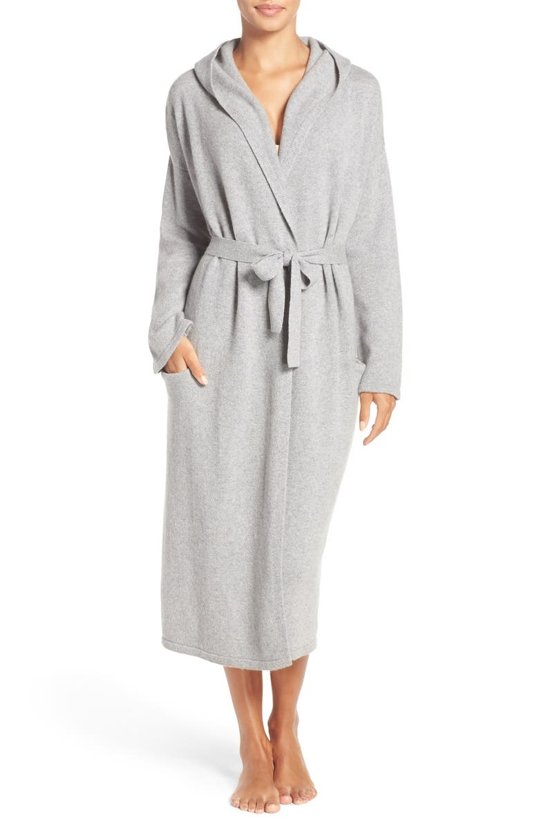 UGG<SUP>®</SUP> 'Evie' Hooded Cashmere Robe, Main, color, 020