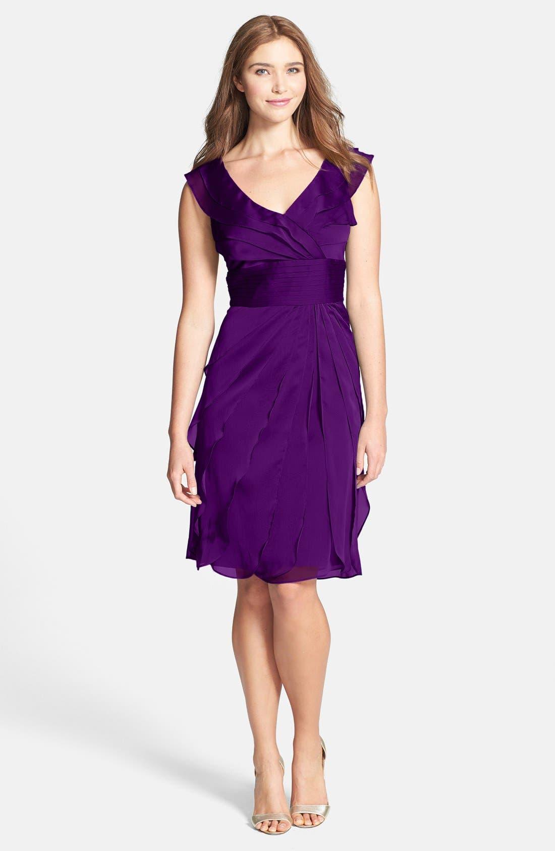 ,                             Tiered Chiffon Dress,                             Main thumbnail 38, color,                             500