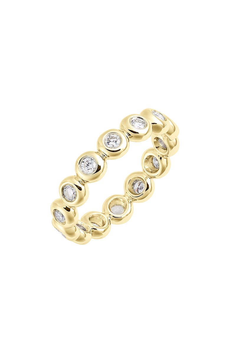 BONY LEVY Monaco Bezel Diamond Ring, Main, color, YELLOW GOLD/ DIA