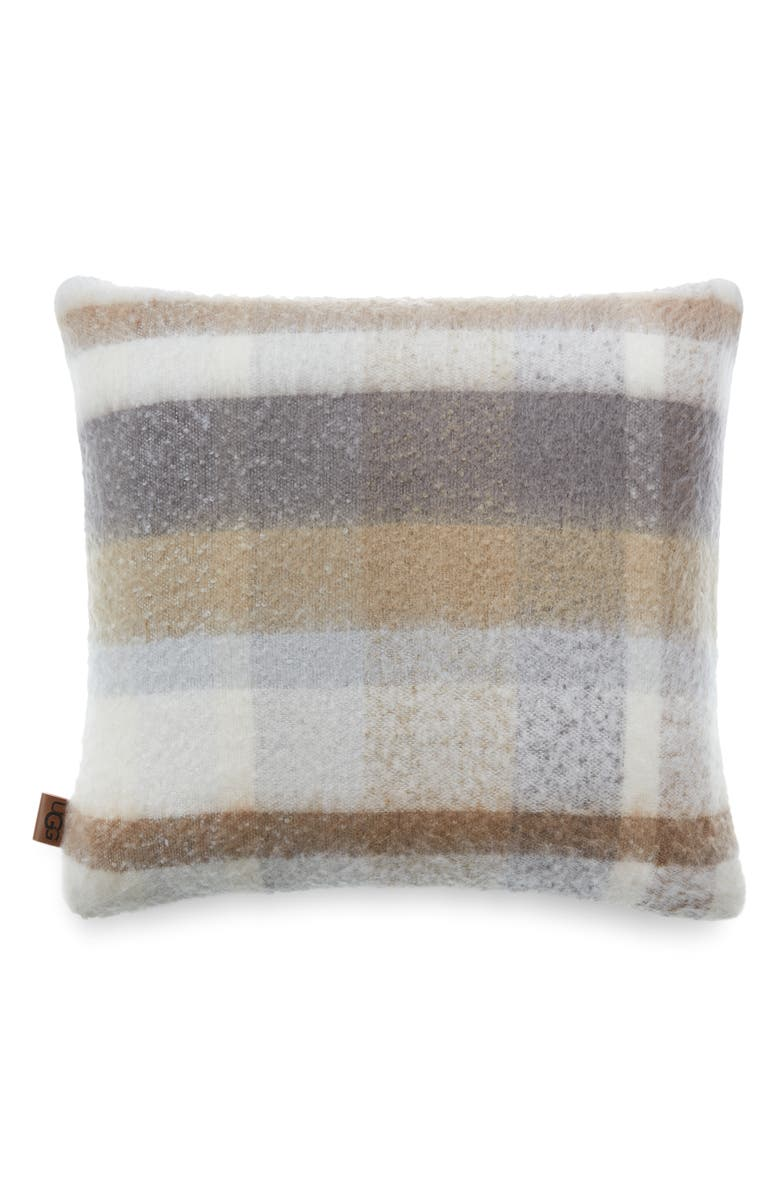 UGG<SUP>®</SUP> Colton Plaid Accent Pillow, Main, color, FAWN MULTI