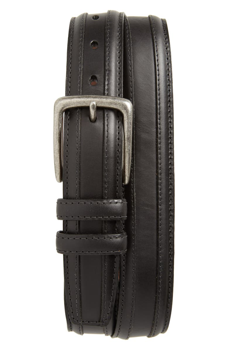 TORINO Oiled Leather Belt, Main, color, 001