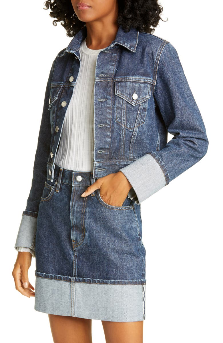 HELMUT LANG Little Denim Trucker Jacket, Main, color, 400