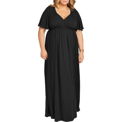 Plus Size Show Me Your Mumu Emily Evening Dress, Black