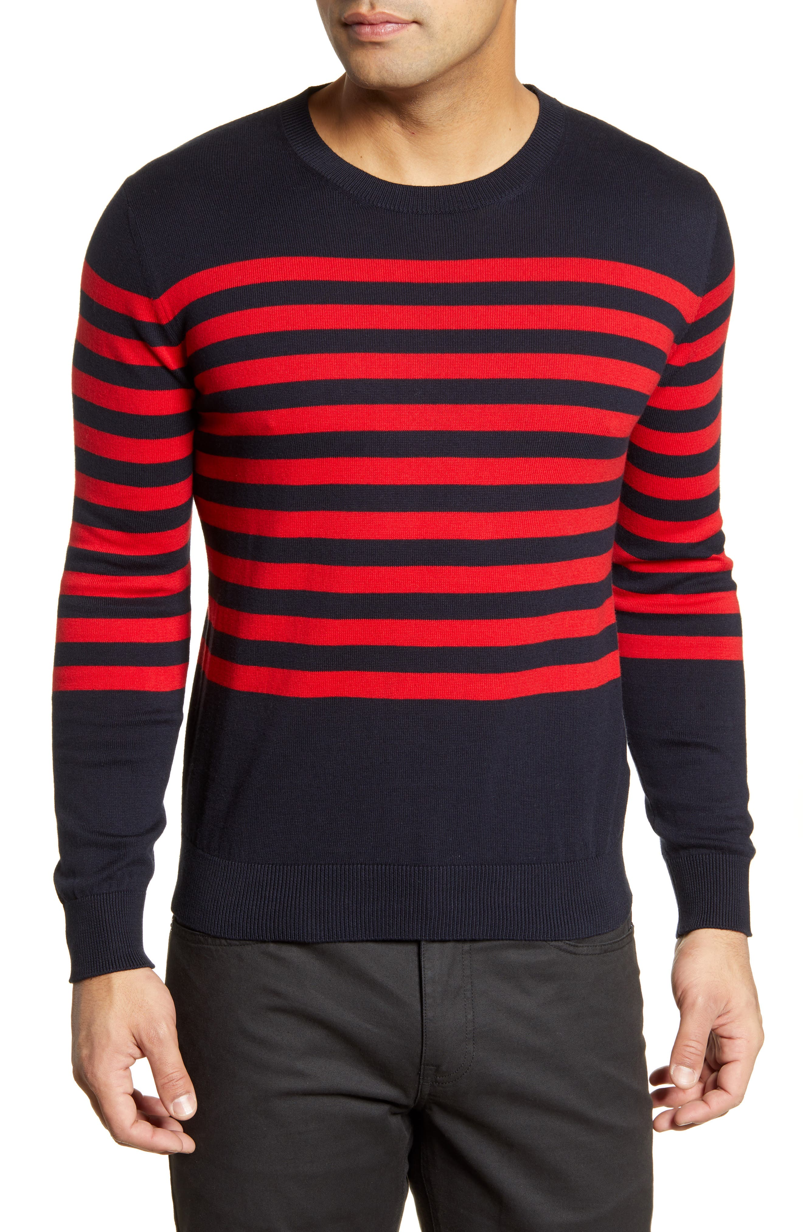 Image of Bugatchi Breton Stripe Sweater